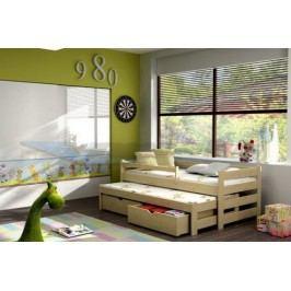 Vomaks Dětská postel s výsuvnou přistýlkou DPV 001 200 cm x 90 cm Barva bílá + kupón KONDELA10 na okamžitou slevu 10% (kupón uplatníte v košíku)