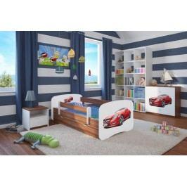 Forclaire Dětská postel se zábranou Ourbaby - Sporťák postel 180 x 80 cm s úložným prostorem + kupón KONDELA10 na okamžitou slevu 10% (kupón uplatníte v košíku)