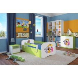Forclaire Dětská postel se zábranou Ourbaby - ZOO II postel 180 x 80 cm s úložným prostorem + kupón KONDELA10 na okamžitou slevu 10% (kupón uplatníte v košíku)