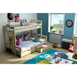Vomaks Patrová postel s rozšířeným spodním lůžkem PPS 001 KOMPLET 200 cm x 140 cm Barva bílá + kupón KONDELA10 na okamžitou slevu 10% (kupón uplatníte v košíku)