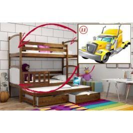 Vomaks Patrová postel s výsuvnou přistýlkou PPV 005 - 11 Tahač KOMPLET 200 cm x 90 cm Barva bílá + kupón KONDELA10 na okamžitou slevu 10% (kupón uplatníte v košíku)