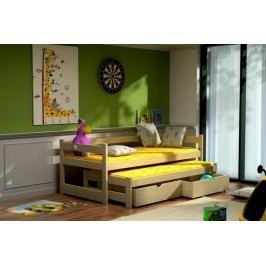 Vomaks Dětská postel s výsuvnou přistýlkou DPV 003 KOMPLET 200 cm x 90 cm Barva bílá + kupón KONDELA10 na okamžitou slevu 10% (kupón uplatníte v košíku)