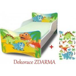 Forclaire Dětská postel Dino postel s úložným prostorem 200x90cm + kupón KONDELA10 na okamžitou slevu 10% (kupón uplatníte v košíku)