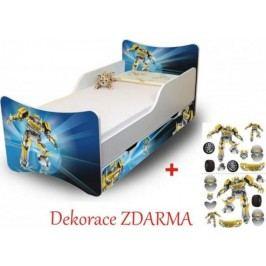 Forclaire Dětská postel Robot postel s úložným prostorem 200x90cm + kupón KONDELA10 na okamžitou slevu 10% (kupón uplatníte v košíku)