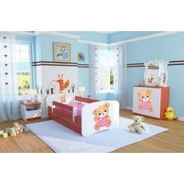 Forclaire Dětská postel se zábranou Ourbaby - Méďa se srdíčkem - calvados postel 180 x 80 cm s úložným prostorem + kupón KONDELA10 na okamžitou slevu 10% (kupón uplatníte v košíku)