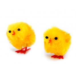 Velikonoční dekorace kuře žluté 4 cm