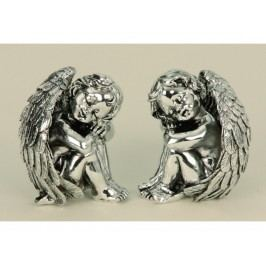 Anděl sedící stříbrný 8cm