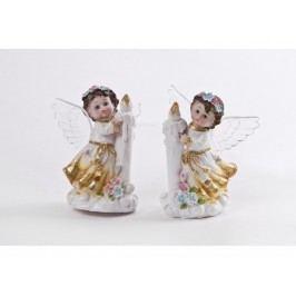 Anděl svítící se svíčkou