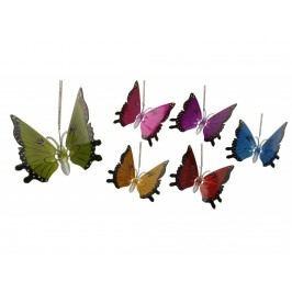 Motýl na pružině 20x21cm mix
