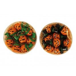 Dekorativní dýně na halloween s/8ks 3,5cm mix