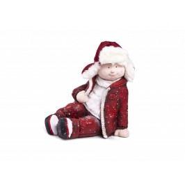 Figurka sedící chlapec 40cm