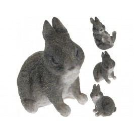 Zajíc 10cm šedý mix