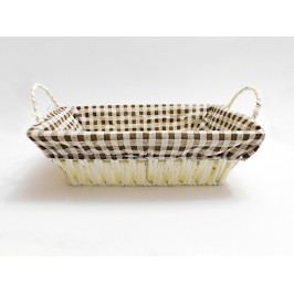 Košík pletený hranatý s látkou