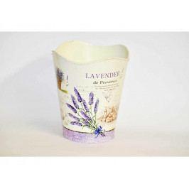 Květináč kulatý vysoký Levandule plechový