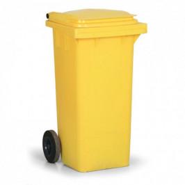 Popelnice plastová 120 l - žlutá