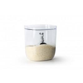 QUALY Dóza na potraviny s odměrkou ve tvaru myši 3,5 L