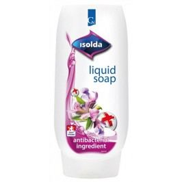 ISOLDA tekuté mýdlo s antibakteriální přísadou CLICK&GO  500 ml