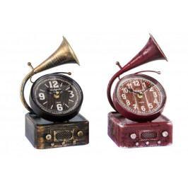 Stolní hodiny Gramofon 16x14x26cm Barva: červená