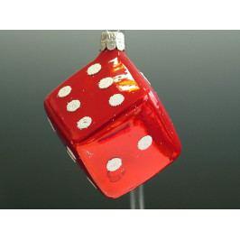 Slezská tvorba Skleněná figurka   červená kostka Balení obsahuje: 6 kusů ST38271108000041/00343-61227