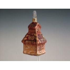 Slezská tvorba Skleněná figurka | kostelík | hnědý mat Velikosti: 6 ks ST34245408000041/00762-71032
