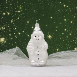 Slezská tvorba Skleněná figurka | sněhulák se stromkem Balení obsahuje: 6 kusů ST3524T023000041/01183-79216