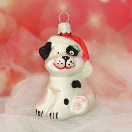 Slezská tvorba Skleněná figurka | pes s čepicí | barevný Balení obsahuje: 6 kusů
