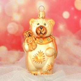 Slezská tvorba Skleněná figurka | medvěd s malým medvídkem Balení obsahuje: 6 kusů