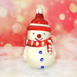 Slezská tvorba Skleněná figurka | sněhulák s červenou šálou Balení obsahuje: 6 kusů