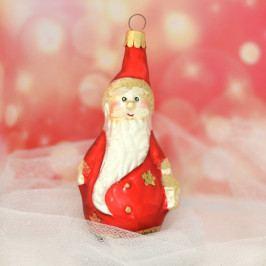 Slezská tvorba Skleněná figurka | Mikuláš s lucernou | červený Balení obsahuje: 6 kusů ST35247968000041/00369-65611