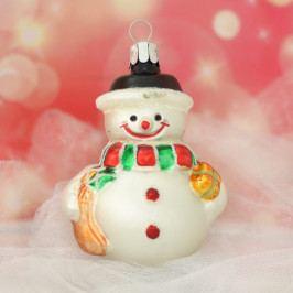 Slezská tvorba Skleněná figurka | sněhulák s dárky Balení obsahuje: 6 kusů ST35246474000041/00498-26013