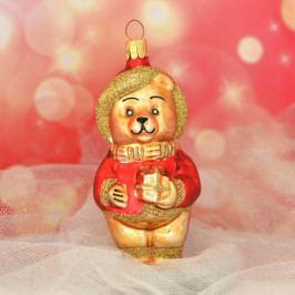 Slezská tvorba Skleněná figurka | medvídek s dárkem Balení obsahuje: 6 kusů