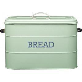 Kitchen Craft Plechová dóza Living Nostalgia na chleba zelená IDLNBBINGRN