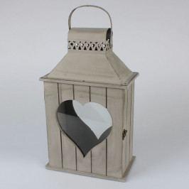 Casa de Engel Dřevěná lucerna | Srdce | Přírodní DAJB451