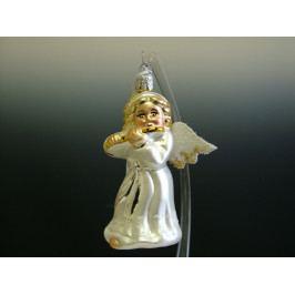 Slezská tvorba Skleněná figurka   anděl s flétnou Balení obsahuje: 6 kusů