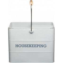 Kitchen Craft Plechový úklidový kbelík Living Nostalgia IDLNHKEEPGRY