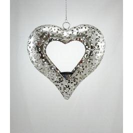 Kolouch Import Závěsný svícen srdce kov 22x6cm KI47918000120