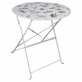 ESSCHERT DESIGN Zahradní skládací stolek potisk bylinky 61x61x70cm EDZEE-HD32