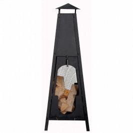 ESSCHERT DESIGN Hranatá krbová kamna na terasu 39x39x105cm EDZEE-FF110