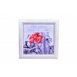 Ego Dekor Obraz | francouzská pohlednice | kolo a růže EDZOB-QA4362-B