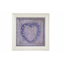 Ego Dekor Obraz   srdce z levandule Provedení: Světlý rám EDZOB-QA3220-B