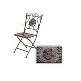 DENK GESCHENKE Židle Vigo kov 98x40x49cm DG19514