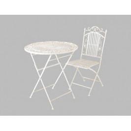 DENK GESCHENKE Židle Rom creme kov 96x39x48cm Set 2ks DG20342