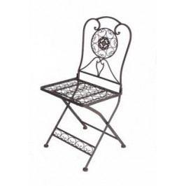 DENK GESCHENKE Židle kov Tecla 29cm Set 2ks DG17921
