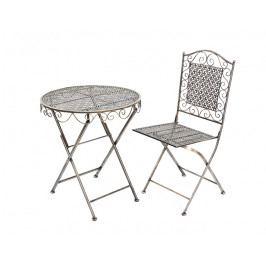DENK GESCHENKE Židle SIENA kov 94x40cm set 2ks DG20182