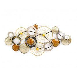 DENK GESCHENKE Nástěnná dekorace Wheel kov 72x152x6cm DG23200