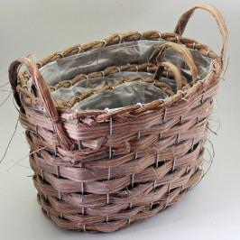 KLIA Koš obal | proutí hnědá 25cm 3ks KAHWH13683A/C