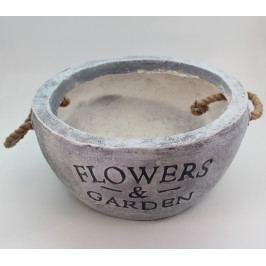 KLIA Obal keramika | šedá s poutky Velikost: menší KAKR883-154-153