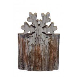 Ego Dekor Vánoční dekorace | dřevěná | vločka EDEGO-820062