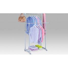 Autronic Stojan na šaty chrom Barva: bílá AUABD-1226 WT