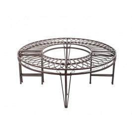DENK GESCHENKE Lavice kruhová | kov | 120x45cm DG18293